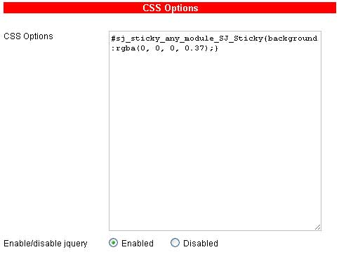 css options